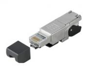 IE-PS-RJ45-FH-180-P-1.6 Stecker RJ45 werkzeuglos, gerade, Cat.5(ISO/IEC11801)