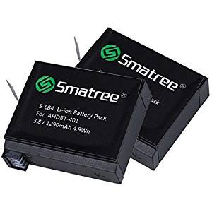 Smatree® Ersatzbatterie (2-Pack) für GoPro Hero 4